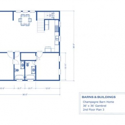 2nd Floor Plan 3A - Champagne