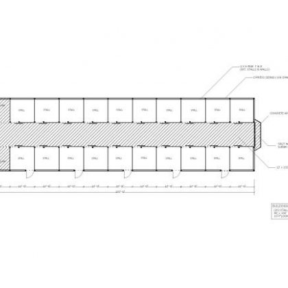 36x132 Option 4 20 Stall 1st Floor Plan