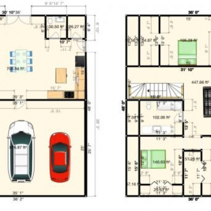 36x48 Floor Plan Example