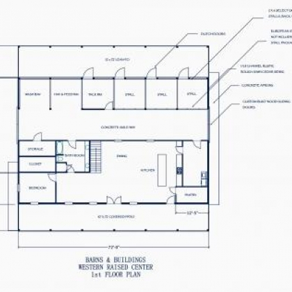 38x72 WRC 1st Floor Plan B - Johnson
