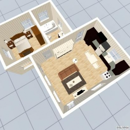 500sqft Cottage Floor Plan
