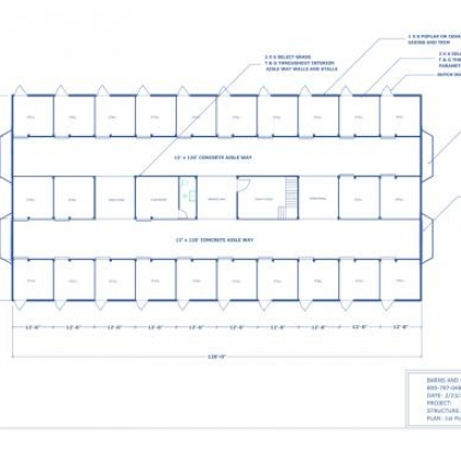 60x120 24 Stall Horse Barn Floor Plan