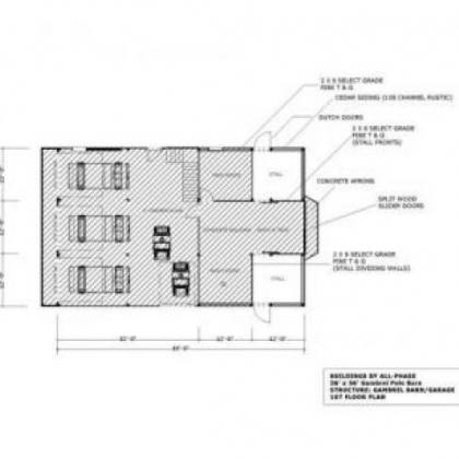Floor plan with 3 car garage