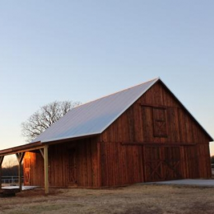 Gable Pole Barn with Loft 36x36 - Aubrey TX