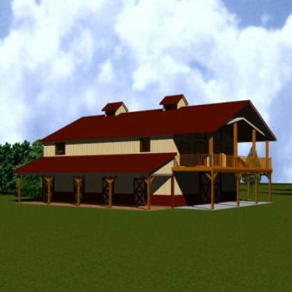 Llano Barn Home Rendition