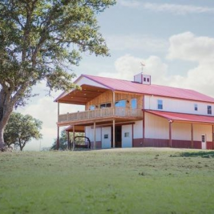Gable Western Barn Home 40x48 - Llano TX