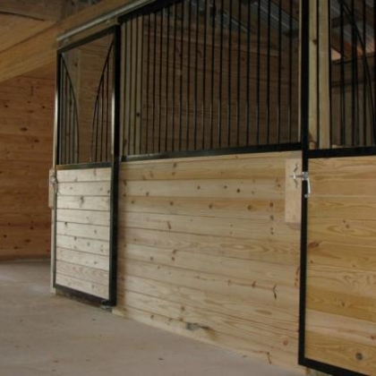 One of our many styles of stall fronts on 36x36 barn in Hemstead TX