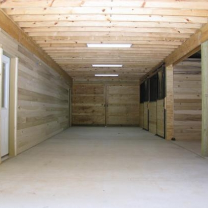 36x48 Stalls with Open Tack Washroom and Enclosed office space