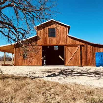 WRC Barn with Apartment 40x60 - Harper TX